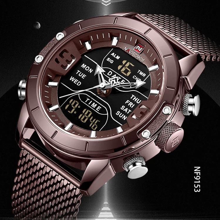 015e4ea7e image description · New Arrival NAVIFORCE Unique chronograph LED sport  military waterproof wristwatch